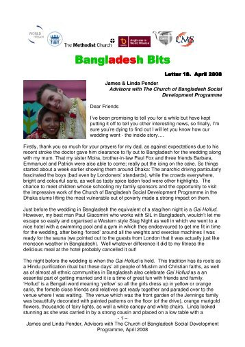 April 2008 newsletter - The Methodist Church of Great Britain