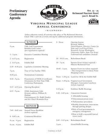 Preliminary Conference Agenda