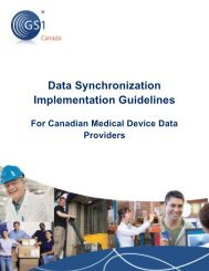 Data Synchronization Implementation Guidelines - GS1 Canada
