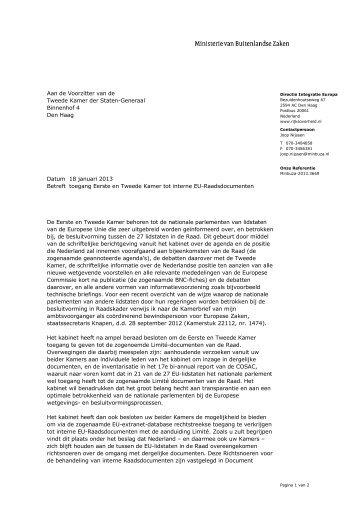"""""""Kamerbrief over toegang tot interne EU ... - Rijksoverheid.nl"""
