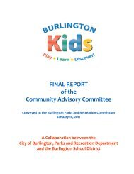 FINAL REPORT of the Community Advisory Committee - Burlington ...