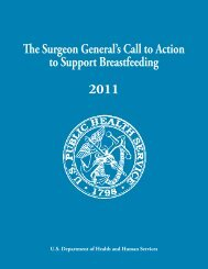 The Surgeon General's Call to Action to Support Breastfeeding [PDF