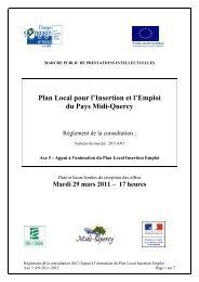 Règlement de la consultation AN 2011 - Pays Midi-Quercy
