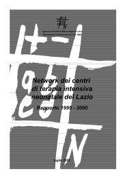 Rapporto - Agenzia di Sanità Pubblica della Regione Lazio