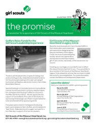 the promise - Girl Scouts of the Missouri Heartland
