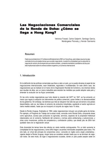 Negociaciones comerciales 3.pmd - Centro de Economía ...
