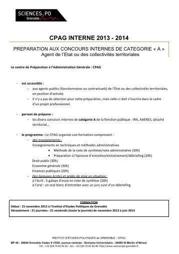 Dossier de candidature CPAG interne agent de l'etat ou des ...