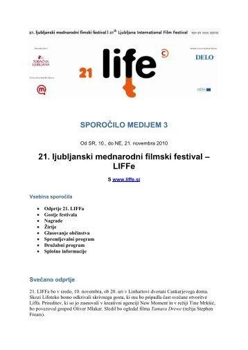 medijsko sporočilo 3 - 21 - LIFFe