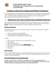 Guidance Notes for Commercial Waste Customers - Castlereagh ...