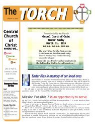 March 12, 2013 - Central Church of Christ