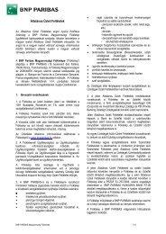 Általános Üzleti Feltételek - BNP Paribas