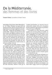 De la Méditerranée, des femmes et des livres - IEMed