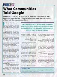 What Communities Told Google - Broadband Properties