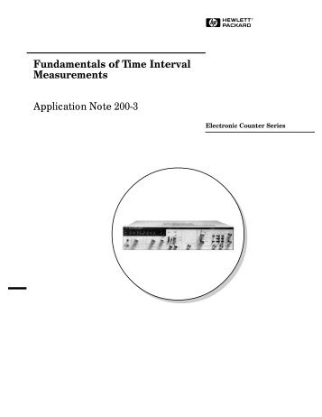 Fundamentals of Time Interval Measurements Application ... - NOISE