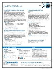 Radar Applications - Osher Lifelong Learning Institute at UAH