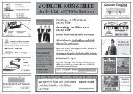 JODLER-KONZERTE - Jodlerklub