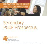 Secondary PGCE Prospectus - Study in the UK