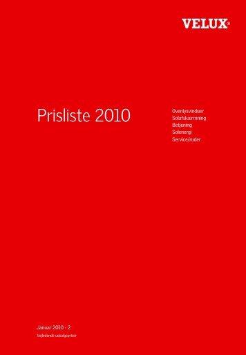 Prisliste 2010 - Velux