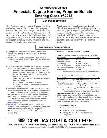 Nursing Bulletin Fall 2013.pdf - Contra Costa College