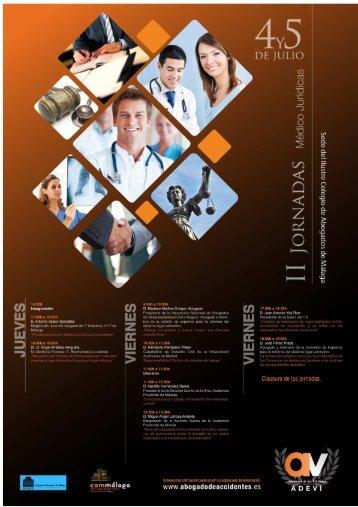 II Jornadas Médico Juridicas. Málaga 4 y 5 de julio de 2013.