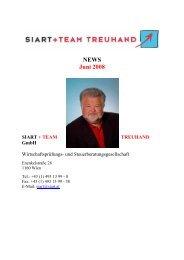 NEWS Juni 2008 - Siart und Team Treuhand GmbH