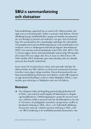 SBU:s sammanfattning och slutsatser