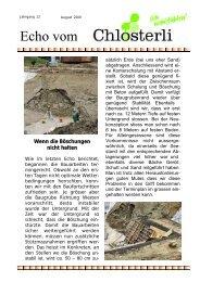 Ausgabe August - Altersheim Chlösterli, Unterägeri