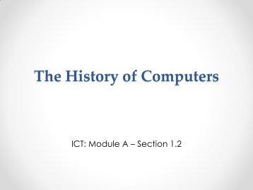 1.2 Computer History