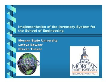 Implementation of the Inventory System for the School of Engineering
