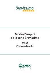 Mode d'emploi de la série Bravissimo - Widex
