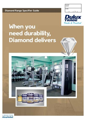 Diamond range specifier guide - Dulux Trade