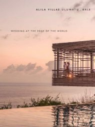 Wedding at The Edge of The World - Alila Hotels and Resorts
