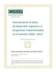 Acercamiento al tema de desarrollo regional y a programas ...