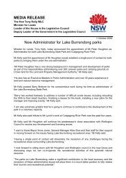 1 October 2009 New administrator for Lake Burrendong parks - Land