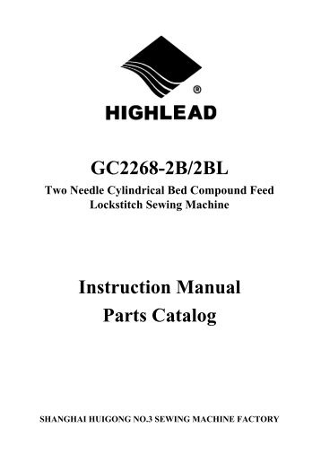 Parts book for Highlead GC2268-2B/2BL