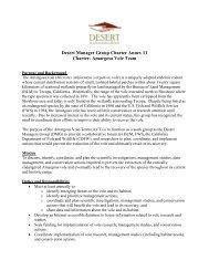 Amargosa Vole Team Charter - Desert Managers Group