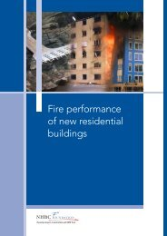 Fire performance of new residential buildings - Masonry First