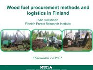 Wood fuel procurement methods and logistics in Finland
