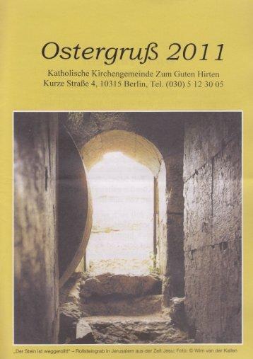 Ostergruß 2007 - Zum Guten Hirten