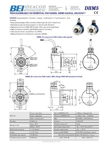 Solid Shaft Programmable Resolution - Industrial Solutions Ltd.