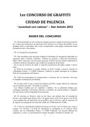 BASES CONCURSO DE GRAFFITI - Ayuntamiento de Palencia