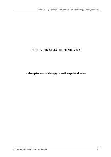 Stabilizacja osuwiska wraz z odbudową drogi nr 1892R Tarnowiec ...