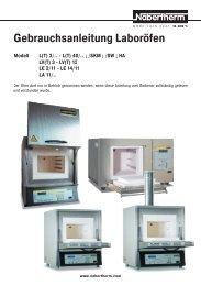 Gebrauchsanleitung Laboröfen
