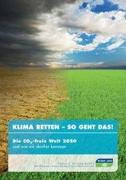 KLIMA rETTEN – SO GEhT DAS! - Global 2000