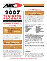 TRAINING PROGRAM - ABC Companies