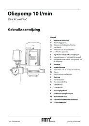 Oliepomp 10 l/min - Pressol
