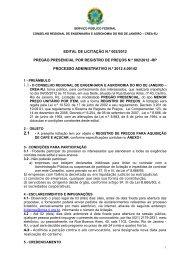 EDITAL DE LICITAÇÃO N.º 002/2012 PREGÃO ... - Crea-RJ