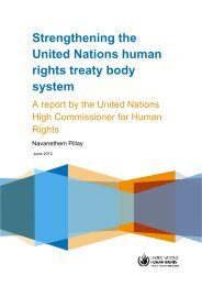Strengthening the United Nations human rights treaty body system
