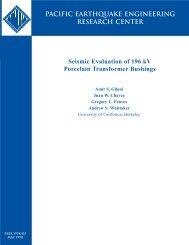 Seismic Evaluation of 196 kV Porcelain Transformer Bushings ...