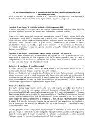 Il Processo di Bologna in Italia - Crui